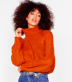 Nasty Gal Ribbed Rust Sweater €20