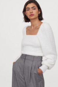 H&M puff sleeved jumper €23